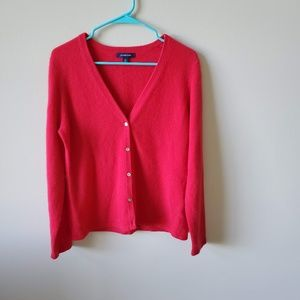 Lands End Womens V-Neck Cashmere Sweater
